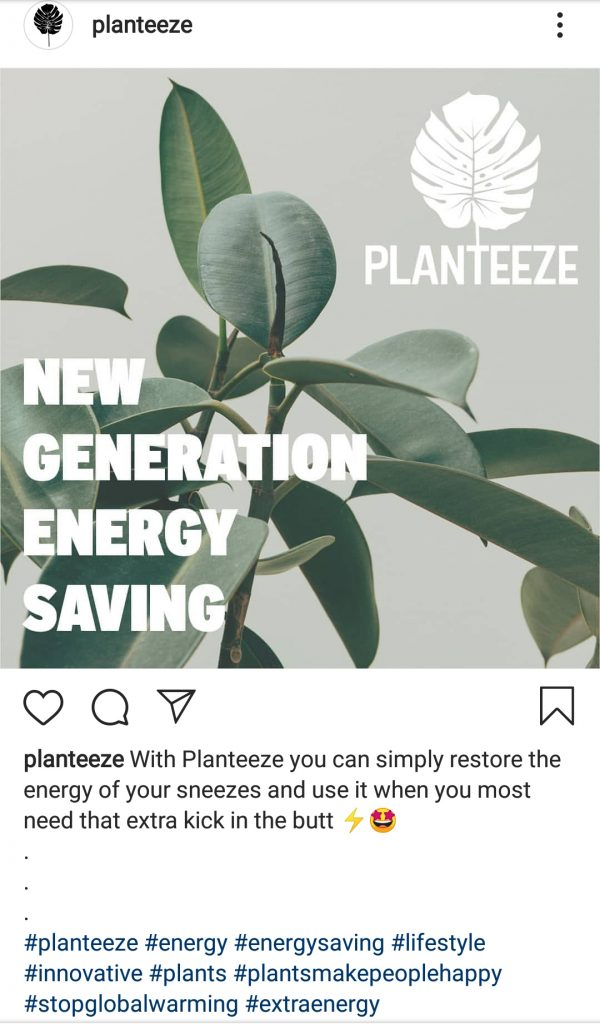 Planteeze-Instagram postaus